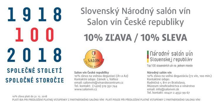 Oslavujeme 100 výročie prvej ČSR a spojili sme sa so Salónom vín České republiky