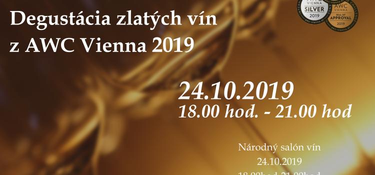 Degustácia zlatých vín z AWC Vienna 2019